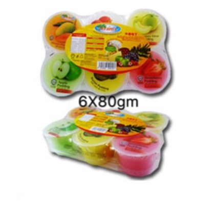 Pudding with Nata de coco 6X80gm party goodies bag kenduri kahwin