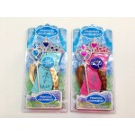 4Pcs/set Frozen Princess Elsa & Anna Crown Wig + Magic Wand Glove best gift for kids