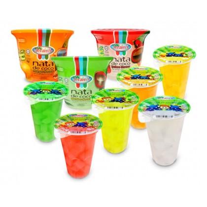 Jeram's Nata De Coco Cup 24's cup Sari Kelapa Berperisa Buah-buahan (HALAL)